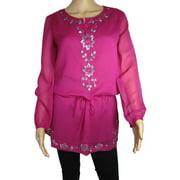 Womens 'Amy' Djellabah Dress, Berry, Size M/40