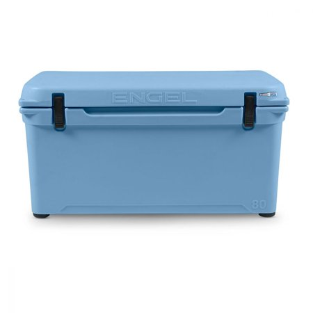 Engel 80 High Performance 18.5 Gallon 75 Can Roto Molded Ice Cooler, Arctic (Best False Bottom For 10 Gallon Cooler)