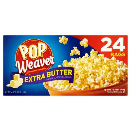 Pop Weaver Extra Er Microwave Popcorn 24 Pk