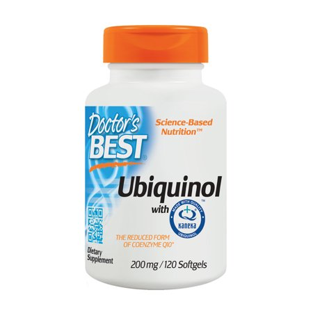 Doctor's Best Ubiquinol with Kaneka QH, Non-GMO, Gluten Free, Soy Free, Heart Health, 200 mg, 120