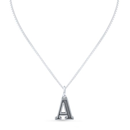 Sterling Silver Initial A Necklace (18