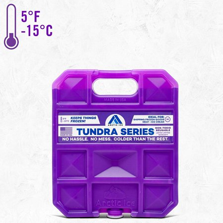 Reusable Ice Pack for Coolers, Lunches, Camping, Fishing, and More, Tundra Series by Arctic Ice, Long-Lasting Medium Ice Pack ()