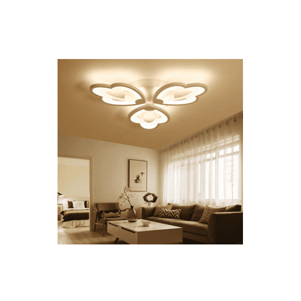 Dimmable Led Ceiling Light Modern Metal Acrylic With Remote Control Flush Mount Ceiling Lamp Living Room Kitchen Hanging Lamp Bedroom Painted Finish Pendant Lighting Walmart Com Walmart Com