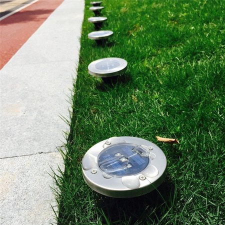Hurrise Solar Underground Ip65 3 Led Deck Buried Light Outdoor Path Garden Floor Lamp Blue