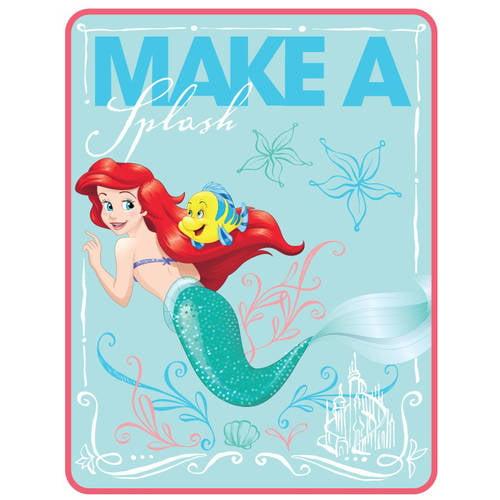 "Disney Little Mermaid ""Ariel Splash"" 46"" x 60"" Kids Throw, Walmart Exclusive"