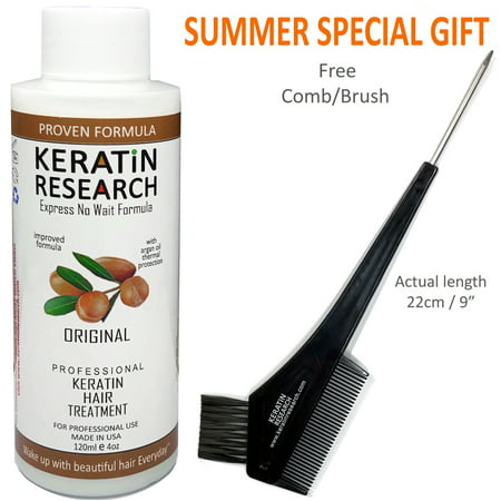 Keratin Research Brazilian Keratin Blowout Hair Treatment 120ml (4oz) Professional Results Straightens and Smooths Hair
