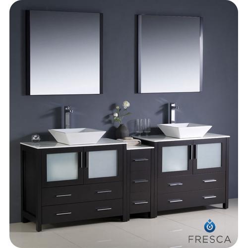 Fresca Torino 84'' Double Modern Bathroom Vanity Set with...