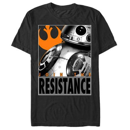 Star Wars The Force Awakens Mens Bb 8 Resistance T Shirt