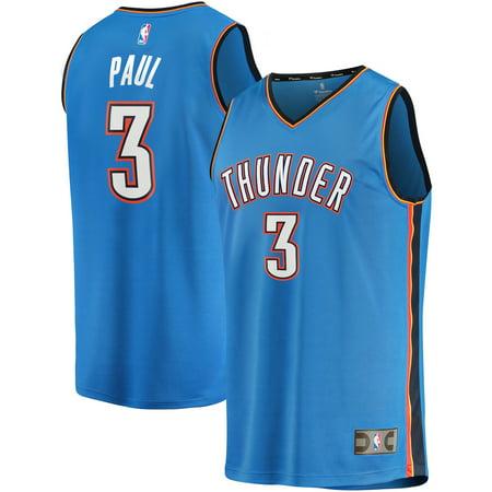 Chris Paul Oklahoma City Thunder Fanatics Branded Fast Break Replica Player Jersey Blue - Icon Edition