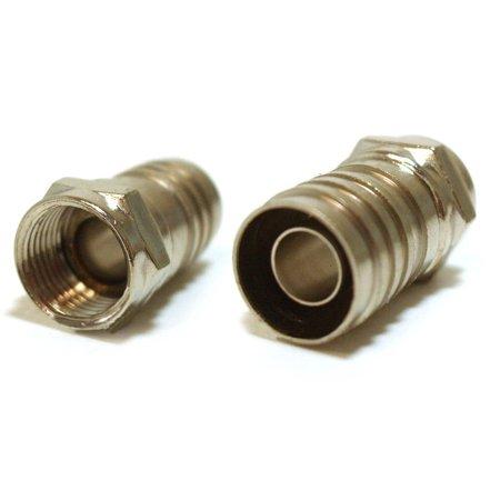Barrel Quad (Single-Piece Construction Coax F-Type Plug Crimp-On RG6 Long Barrel Quad Shield)