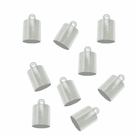 48 Silver Plated Brass Cord End Cap 6x10x6mm Hole:5 5mm