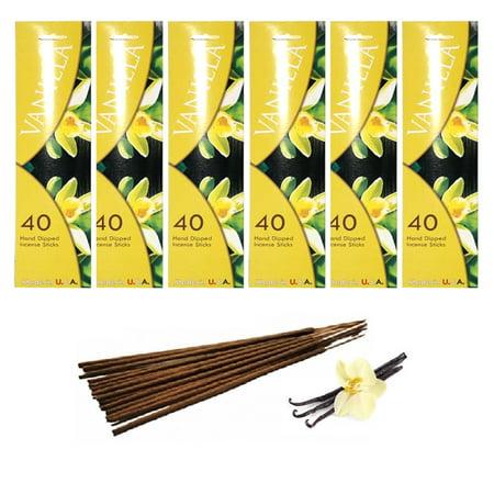 240 Vanilla Scent Joss Incense Stick Hand Dipped Fragrance Burning Perfume Bulk - Hand Dipped Incense