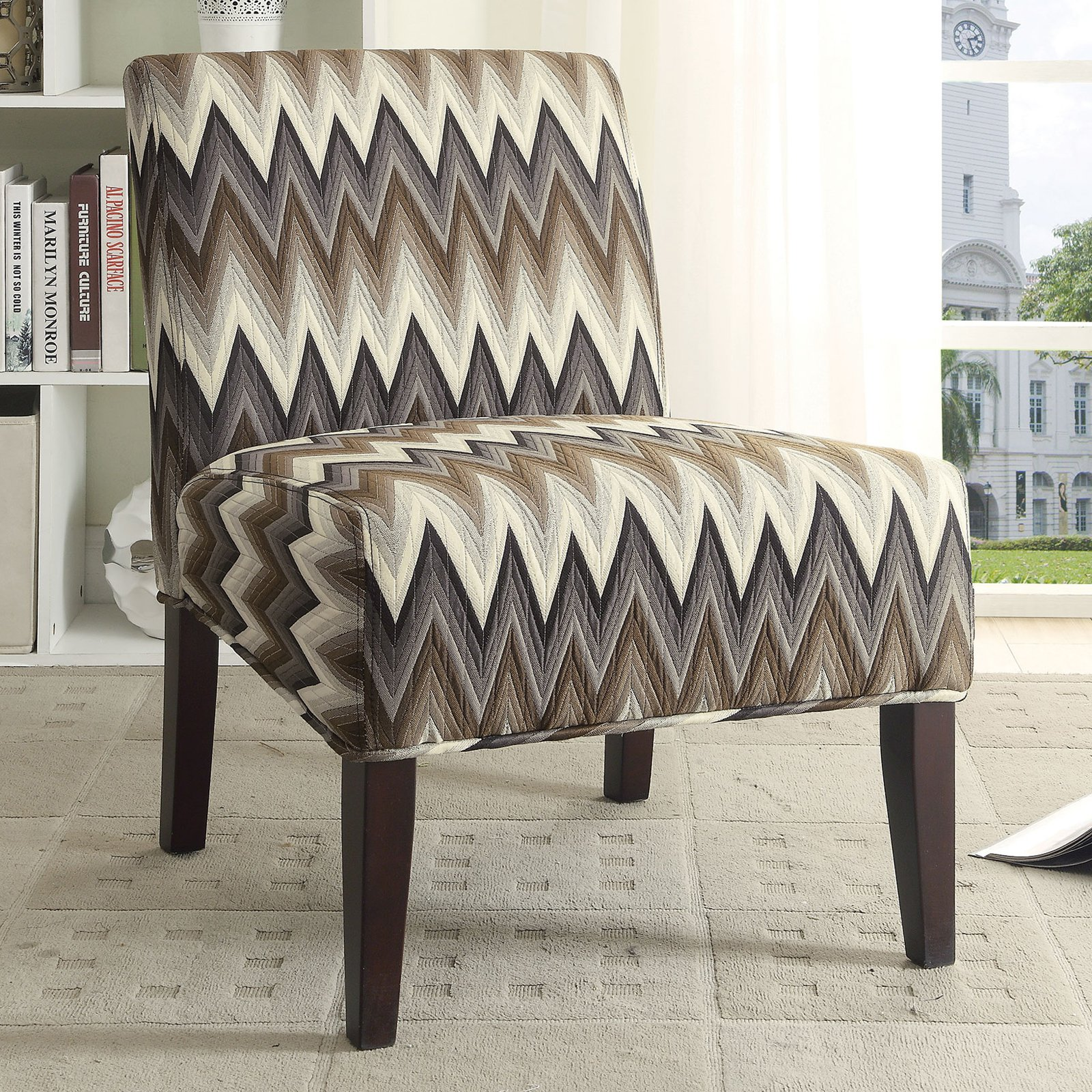 Tremendous Armless Accent Chair Multicolor Complete Home Design Collection Barbaintelli Responsecom