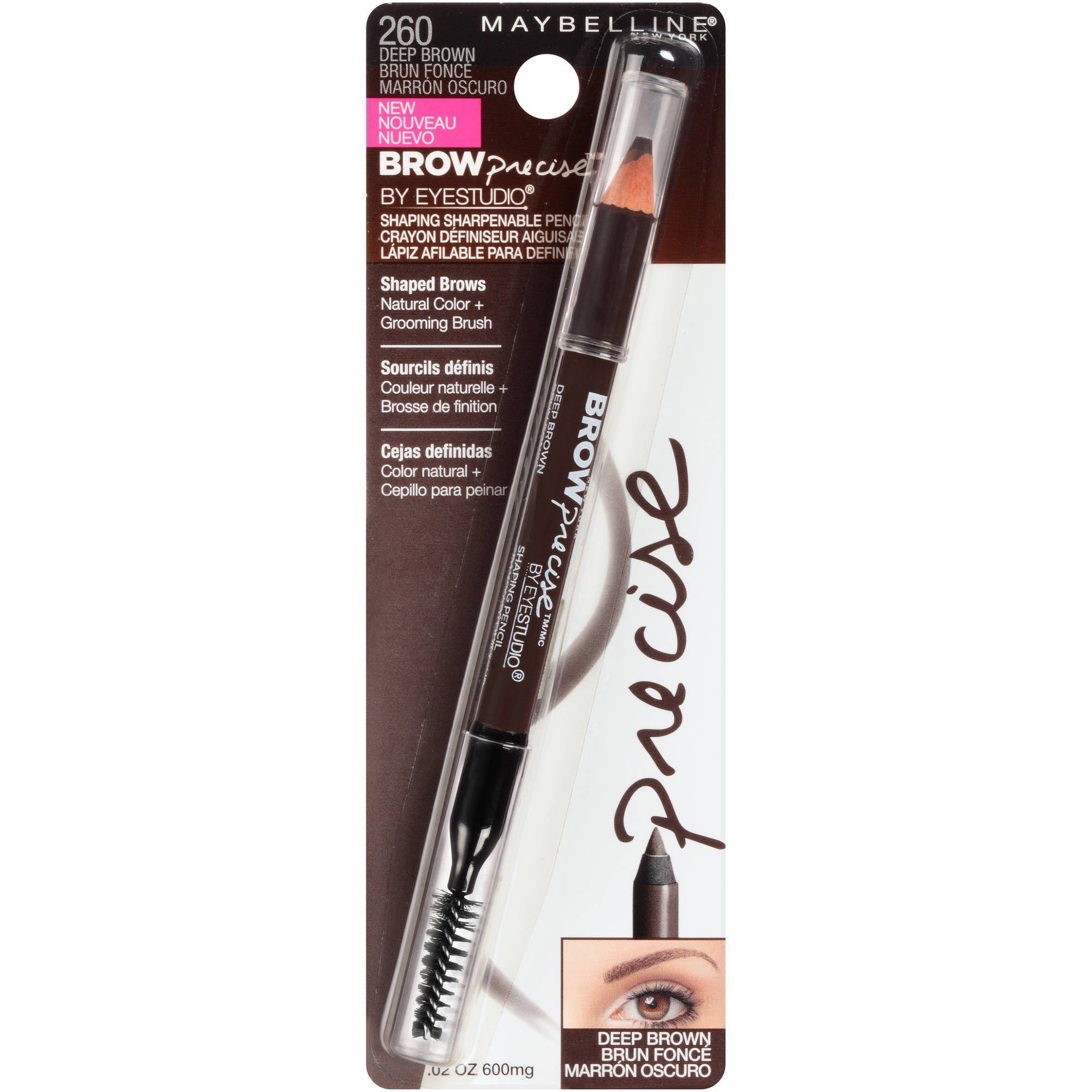 Maybelline Brow Precise Shaping Eyebrow Pencil Deep Brown 002 Oz