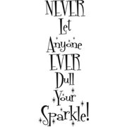 Design on Style  'Never Let Anyone Dull Your Sparkle' Quote Vinyl Wall Lettering Art Decor