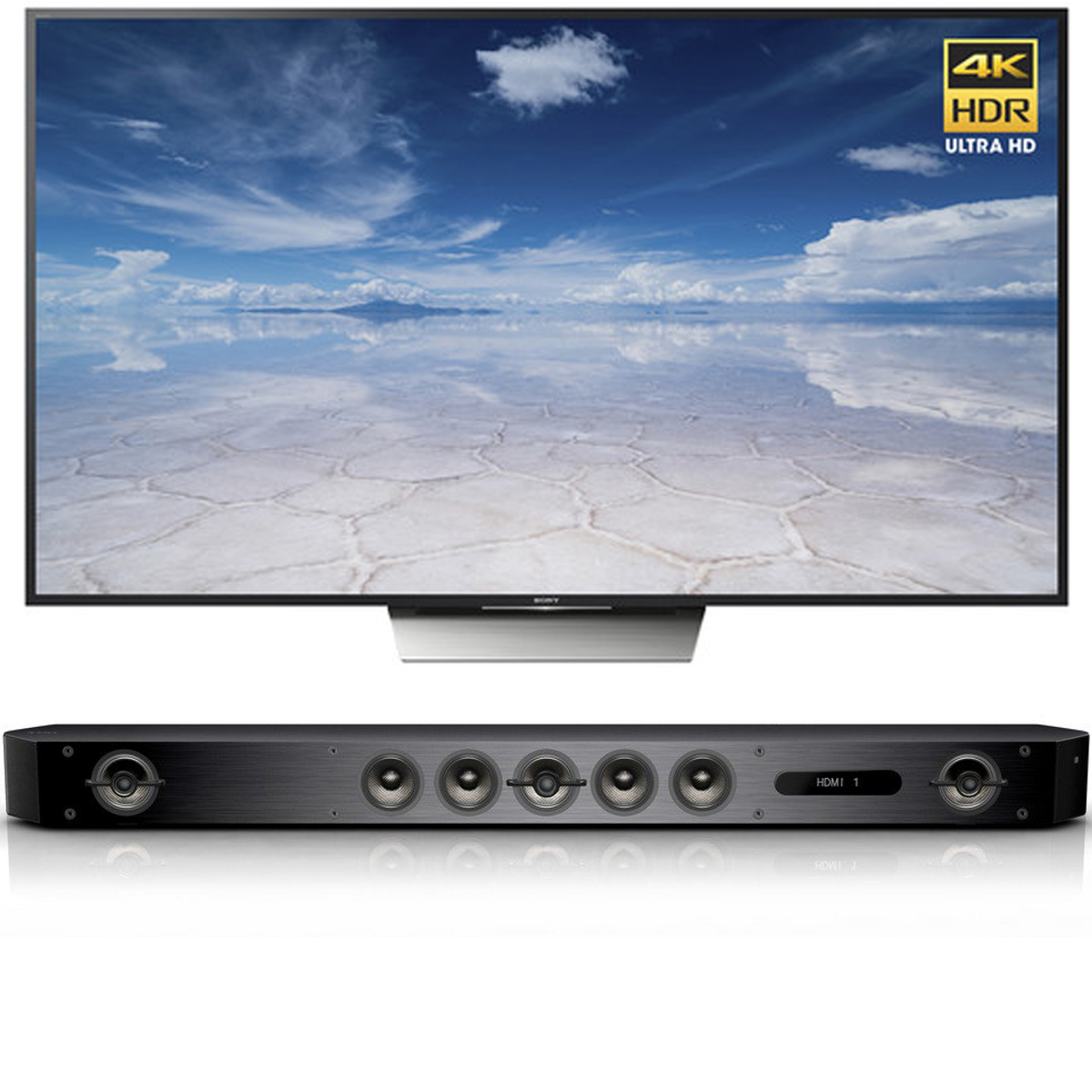 Sony X850D 85-Inch 4K HDR w/ Android TV & Bar Speaker System