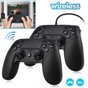 PS4 Controller Wireless/Wired Joysticks, EEEkit Dual Shock 4 Game Remote, Bluetooth PS4 Gamepad, Support Playstation 4, PS3, PC(Black)