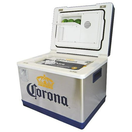 Corona Cruiser AC/DC Electric Cooler with Bottle Opener and Holders - 55.4 Quarts capacity - Can hold a 24-bottle case of beer