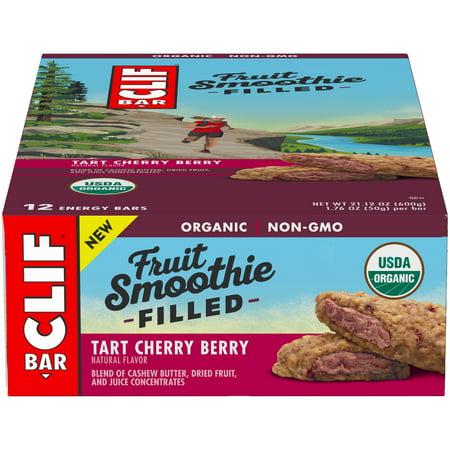 - Clif Bar® Fruit Smoothie Filled Tart Cherry Berry Energy Bar 12-1.76 oz. Bars