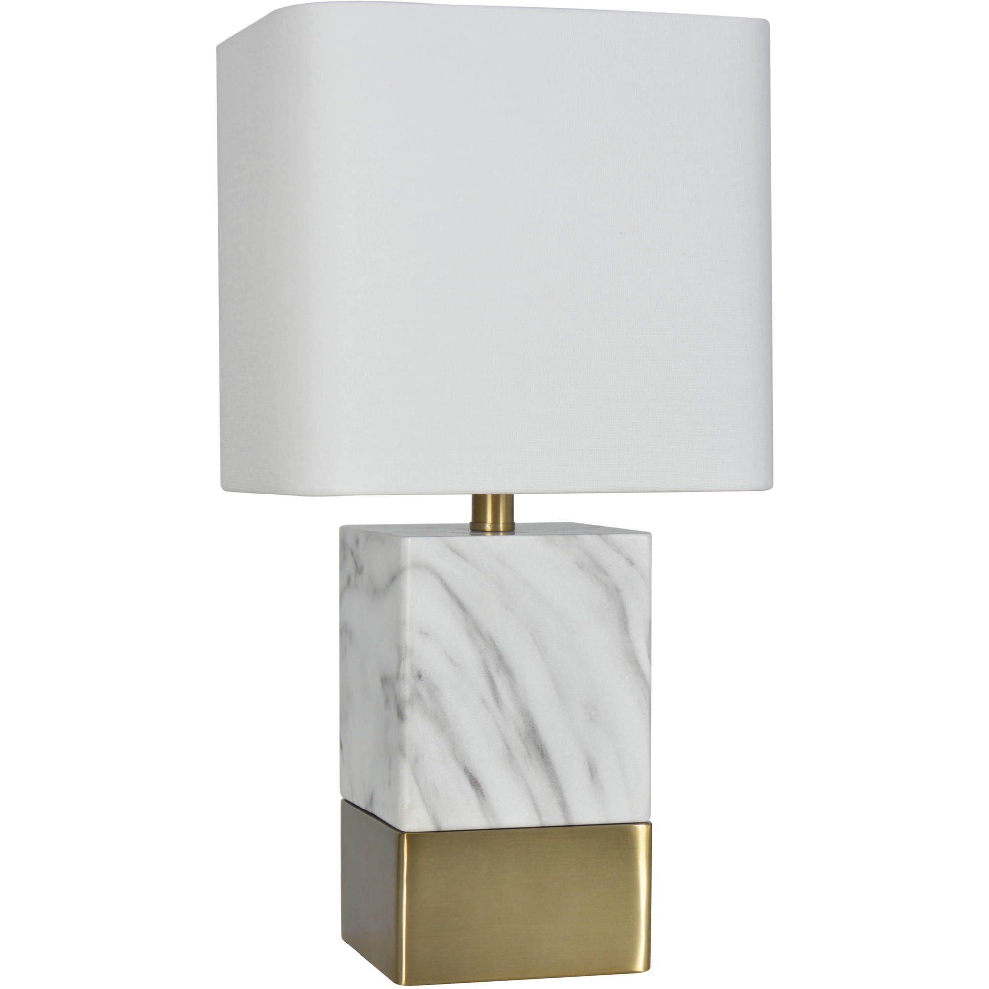 Better Homes and Gardens Gray and White Faux Marble Table Lamp ...