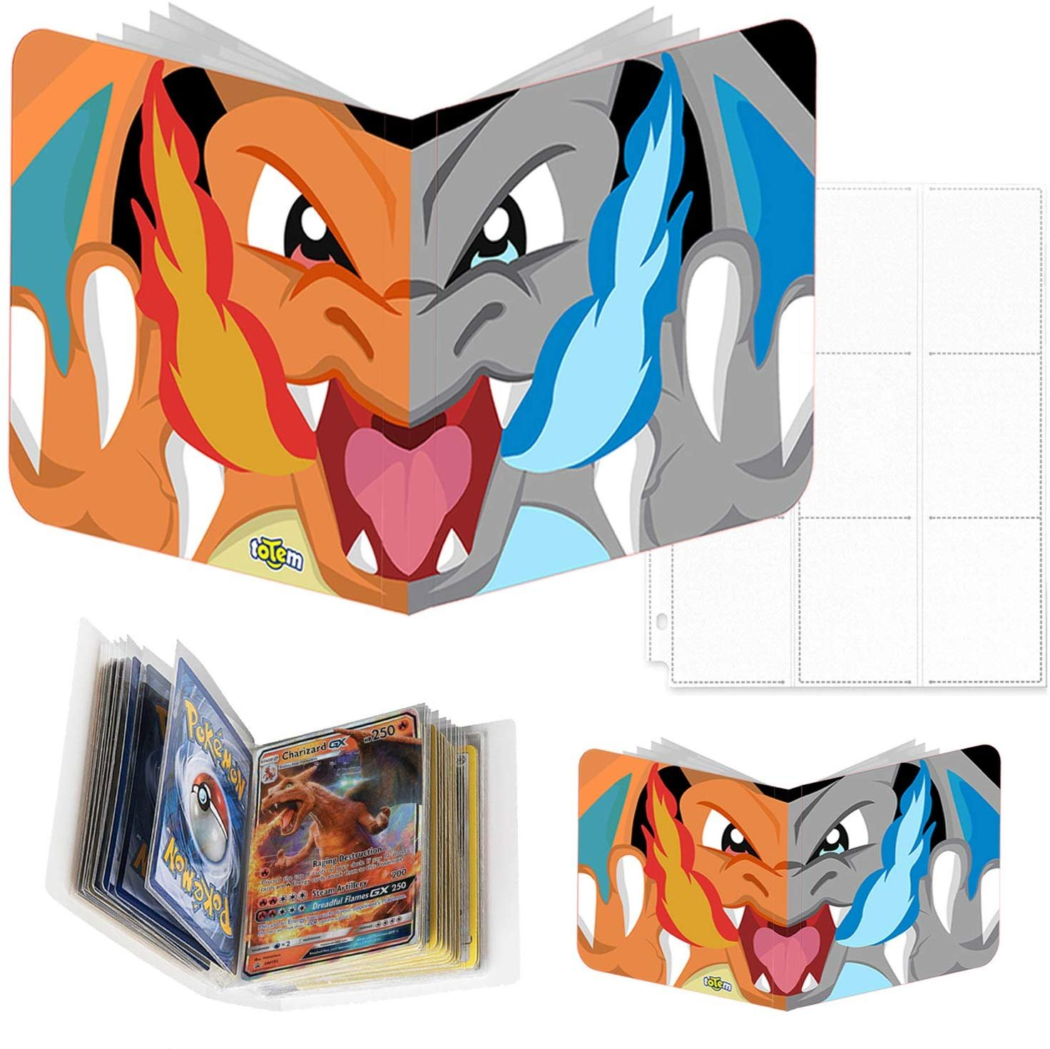 Totem World Mega Charizard X & Y Inspired 3-Ring Binder with 25 9-Pocket  Pages and a Mini Binder Collectors Album for Pokemon Cards - Walmart.com -  Walmart.com