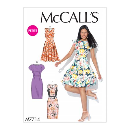McCall's Sewing Pattern Misses'/Miss Petite Dresses-6-8-10-12-14