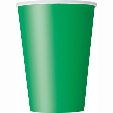 Paper Cups, 12 oz, Green, 10ct - Glow In The Dark Cup