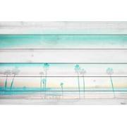 "Parvez Taj ""Hazy Beach"" Print on White Wood"