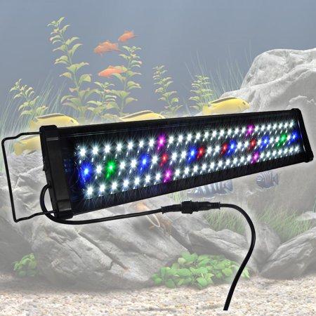 Yescom aquarium light 78 129 156 leds freshwater saltwater for Fish tank lights walmart