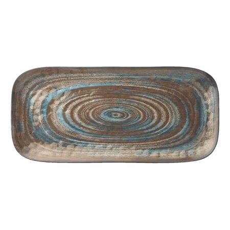 Merritt International Melamine Glazed Brown Swirl 15