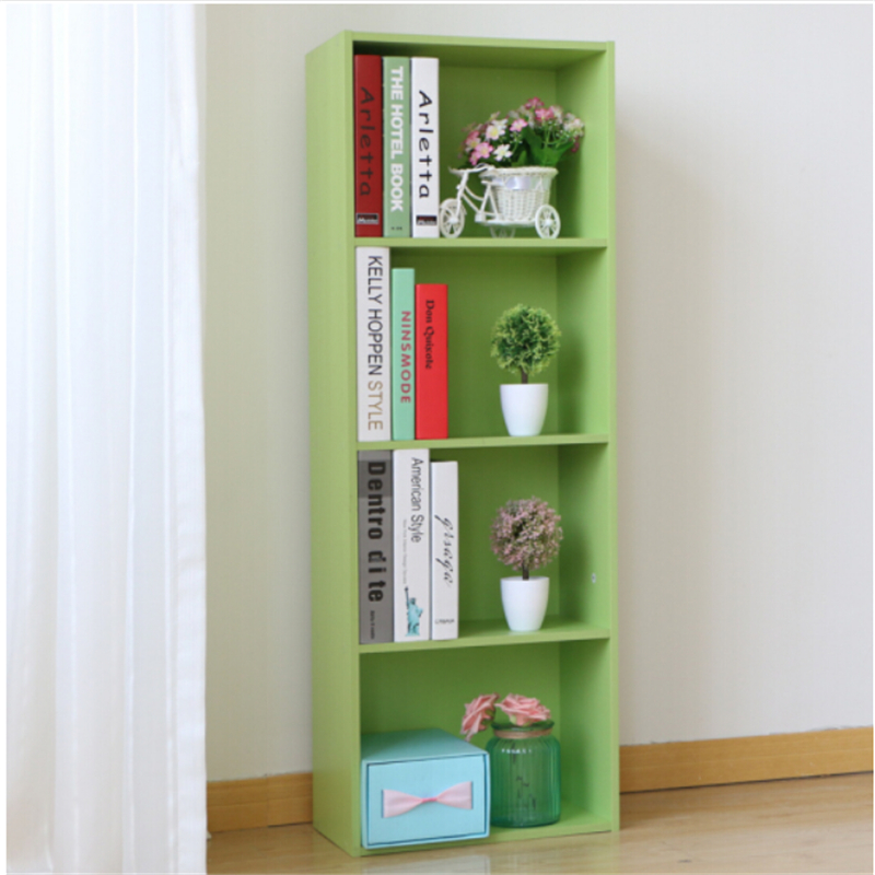 Yosoo 3/4 Shelf Wood Bookcase Storage Furniture Bookshelf Bedroom,Green