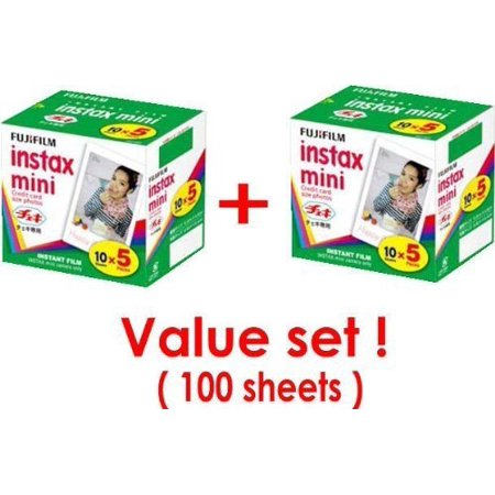 0cd0068c Fujifilm Instax Mini Instant Film, 10 Sheets of 5 Pack × 2 (100 Sheets) -  Walmart.com