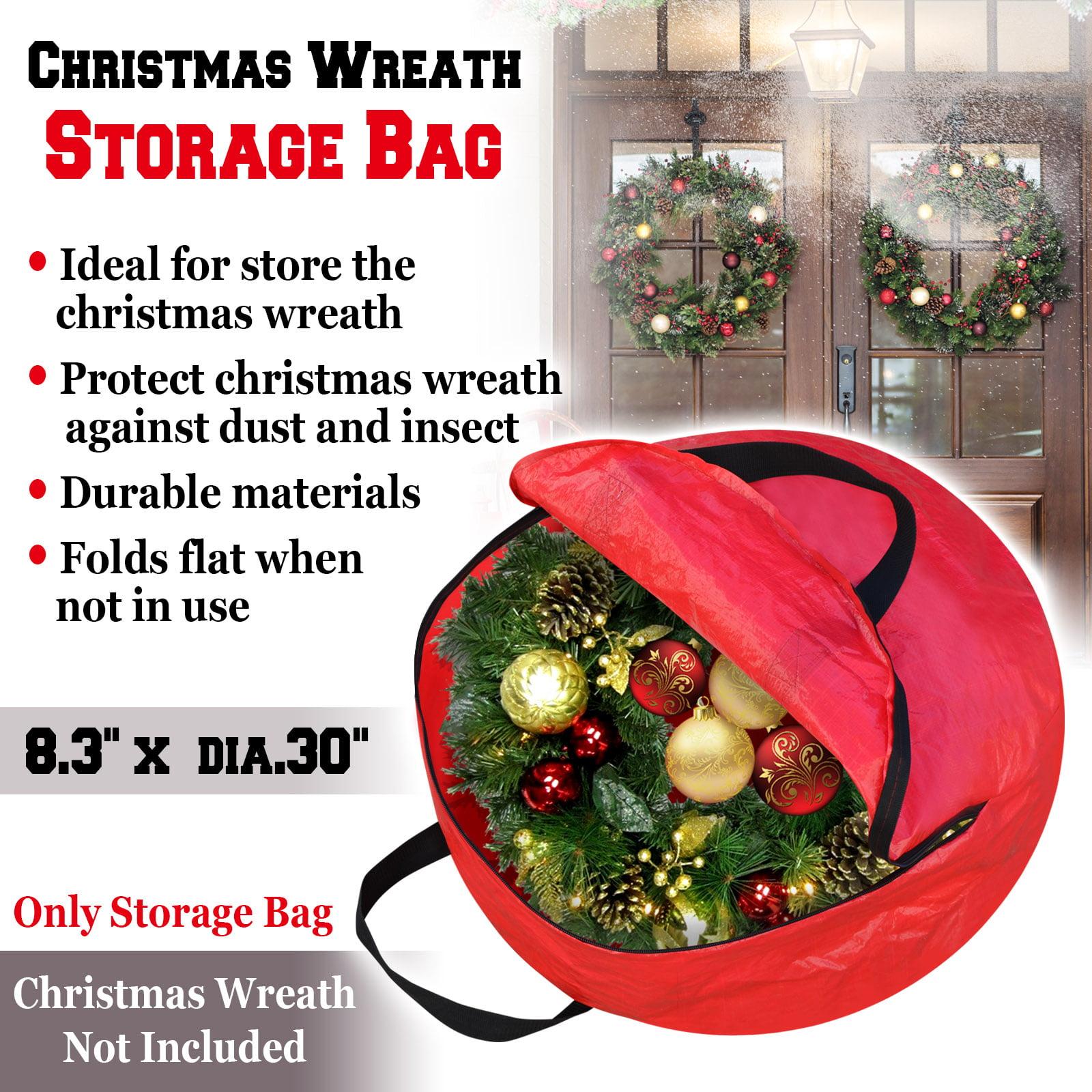 Strong Camel Heavy Duty Christmas Wreath Storage Bag For 24 30 Inch Wreaths