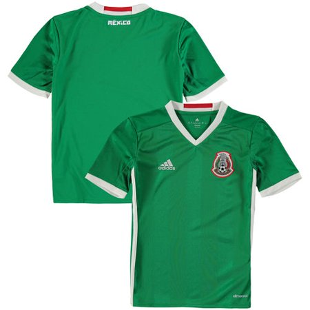 Youth adidas Green Mexico Home climacool Jersey