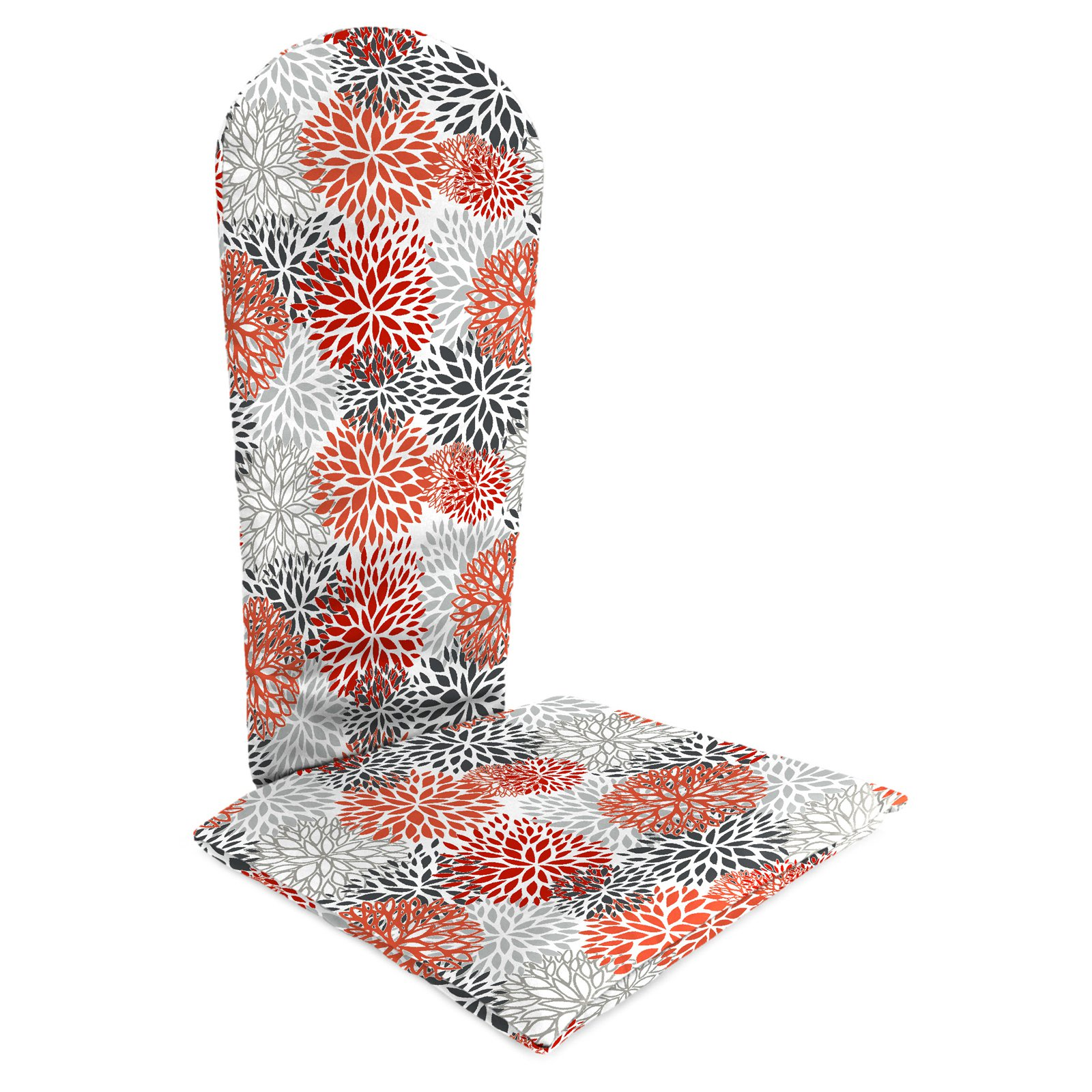 Jordan Manufacturing 49 in. Knife Edge Outdoor Bloom Adirondack Chair Cushion