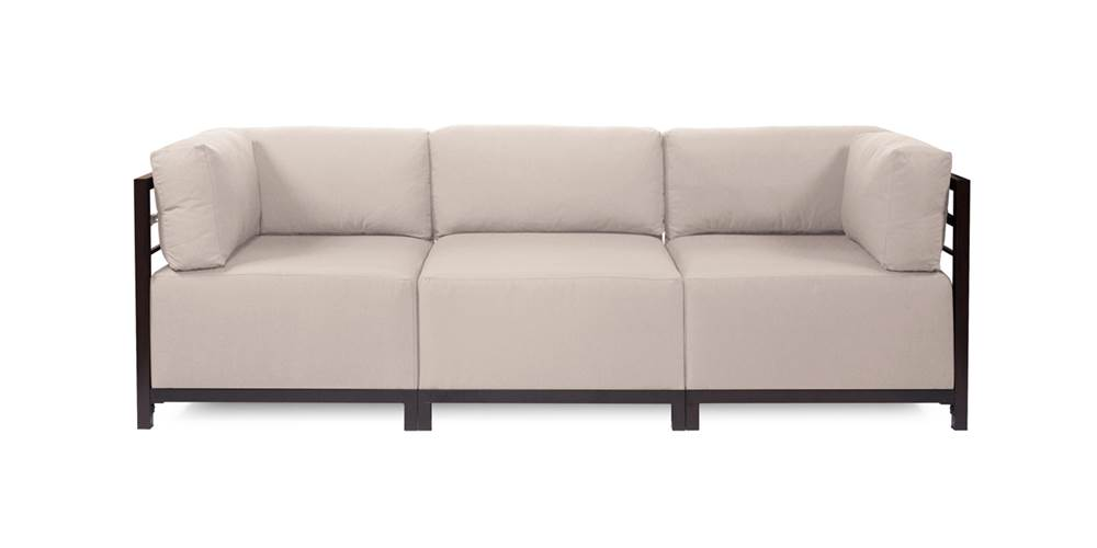 3-Pc Sectional in Sand by Howard Elliott Collection