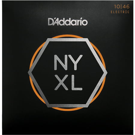 D'Addario NYXL1046 Nickel Wound Electric Guitar Strings, Regular Light, 10-46 ()