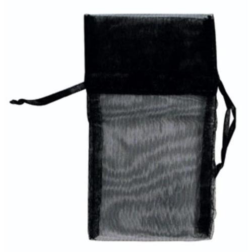 Bulk Buys 1. 75 inch x 2 inch Black Organza Pouch - Case of 12