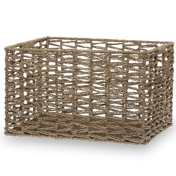 Michaela Sea Grass Braided Utility Basket - Medium 17in