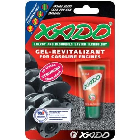 XADO Gel-revitalizant for Gasoline Engines (blister, tube 9 ml), Restores  and protects friction parts of the cylinder-piston groups  , By XADO