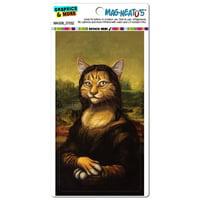 Meowna Lisa - Cat Mona Leonardo da Vinci Painting Parody Funny MAG-NEATO'S(TM) Car/Refrigerator Magnet