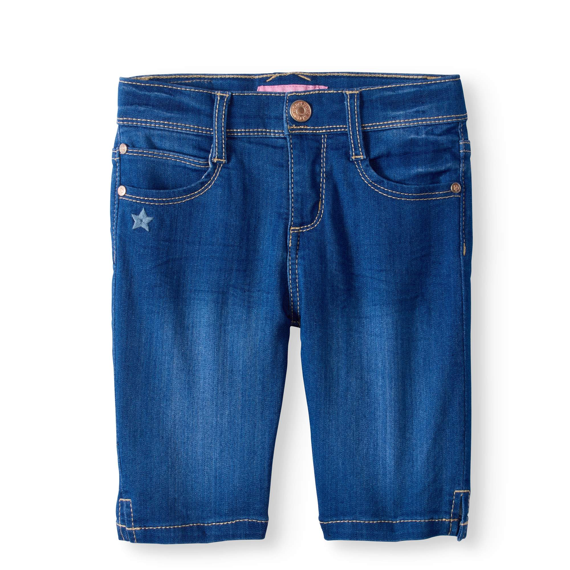 LIttle Girls' 4-6X Super Soft Denim Skinny Bermuda Short