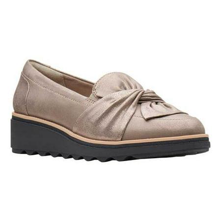 Women's Clarks Sharon Dasher Platform Loafer Blue Suede Shoes Lyrics