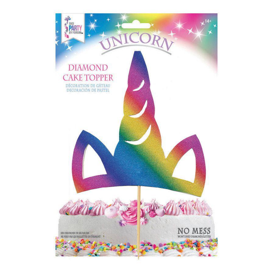Rainbow Unicorn Horn Cake Topper