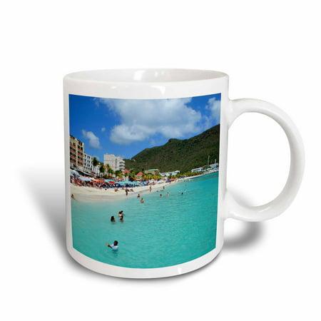 3dRose Great Bay Beach, Philipsburg, St. Maarten - CA41 LSE0001 - Lynn Seldon, Ceramic Mug,