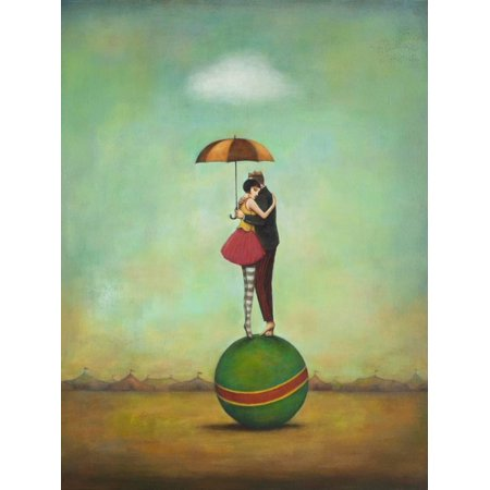 Circus Romance Figurative Couple Print Wall Art By Duy (Romance Collection Wall)