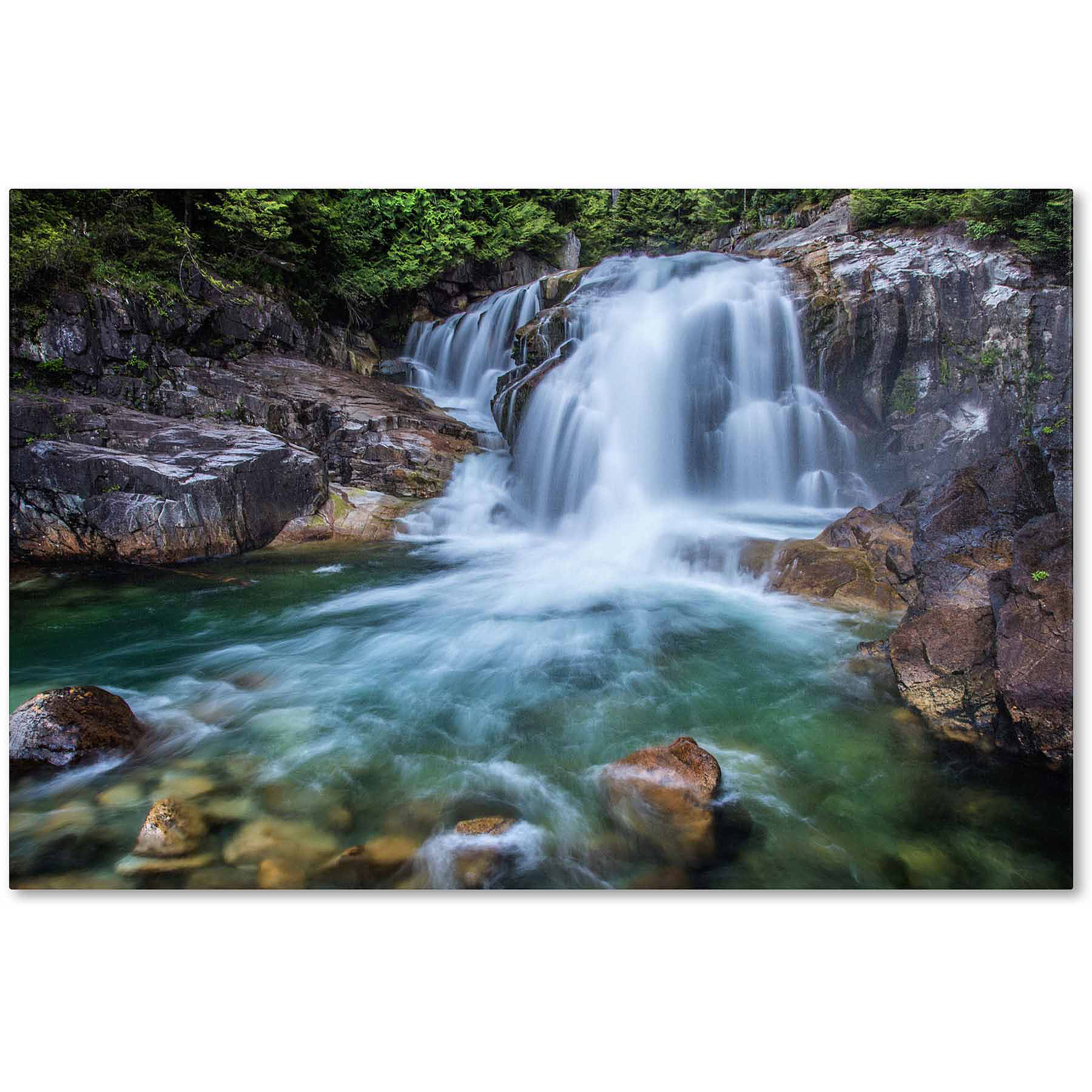 "Trademark Fine Art ""Golden Ears Falls"" Canvas Art by Pierre Leclerc"