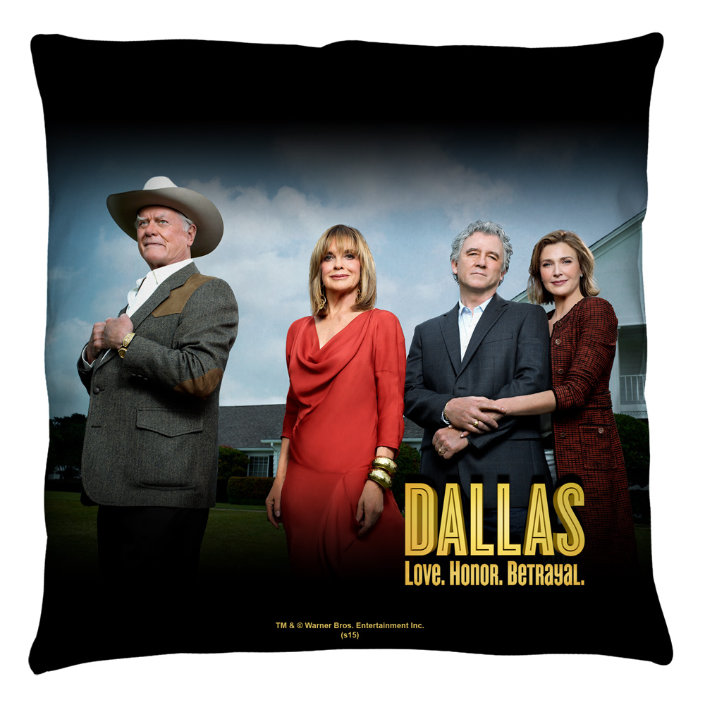 Dallas Cast Throw Pillow White 14X14