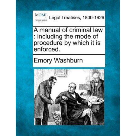 A Manual of Criminal Law - image 1 de 1