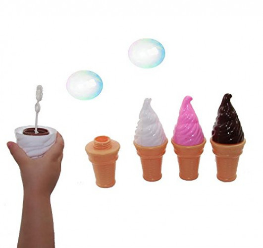 Dazzling Toys Yummy Ice Cream Bubbles Contains Bubble Solution 4 Pack. by dazzling toys
